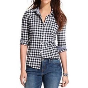 Tommy Hilfiger 3/4 Button Plaid Shirt